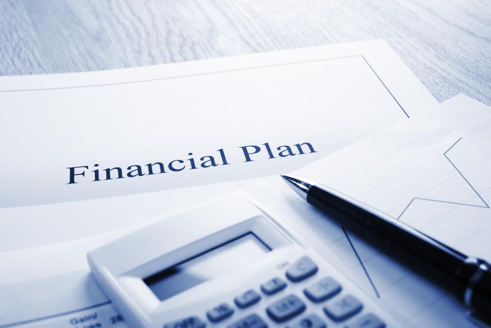 Financial Plan Blue Tone